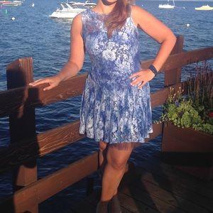 Beautiful blue lace Betsey Johnson dress